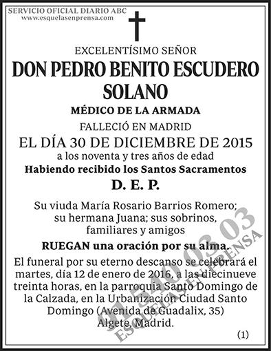 Pedro Benito Escudero Solano